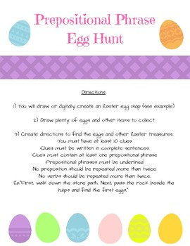 Create A Prepositional Phrase Easter Egg Hunt Map Perfect for Spring and Easter