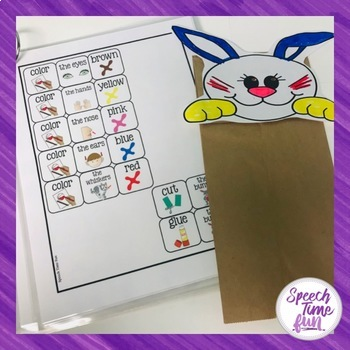 Create A Puppet: Basic Following Directions Activity (for the year)