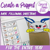 Create A Puppet: Basic Following Directions Activity (for
