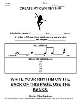 Create-A-Rhythm (body percussion)