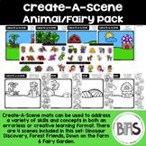 Create-A-Scene Animal/Fairy Pack (File Folder | Errorless Task )