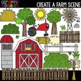 Create A Scene - Farm Clipart  {Scrappin Doodles Clip Art}