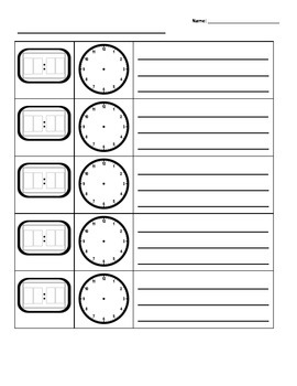Create A Schedule: Digital and Analog Time (with writing!)