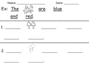Create-A-Sentence Level 1 and 2