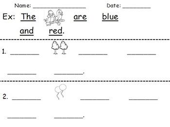 Create-A-Sentence Level 2