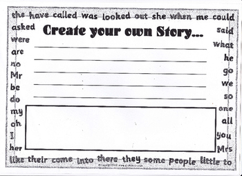 Create A Story Worksheet