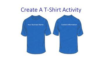 Create A T-Shirt Activity
