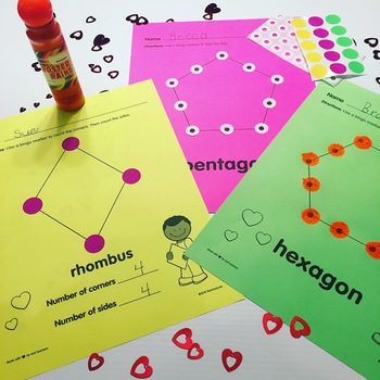 Create A Valentine: Shapes All Around