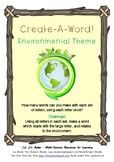 Create-A-Word! Vocab Activities - Environment Theme