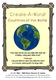 Create-A-Word! Vocab Activities - Countries of the World Theme