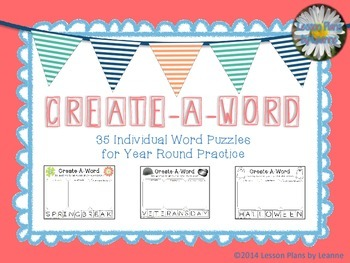 Create-A-Word Year Round Puzzles