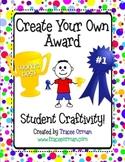 End of the Year Creative Award Activity Craftivity