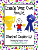 End of the Year Creative Award Activity Craftivity