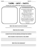 Create An Epic Hero Worksheet