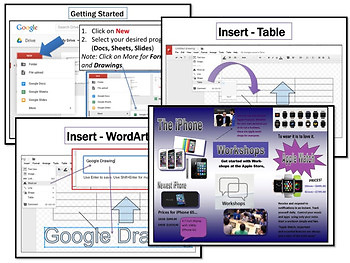 Create Brochures in Google Drive Drawings