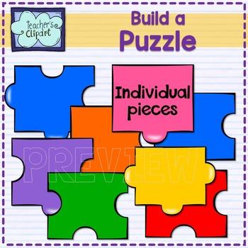 Create / Build a Puzzle clip art BUNDLE - 152 graphics - Individual pieces