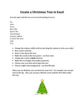 Create Christmas Trees in Microsoft Excel – Religious Verses