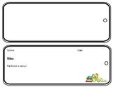 Retelling/ Summarizing- Create & Design a Retelling Bookmark