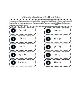 Create Equations by Matching Expressions