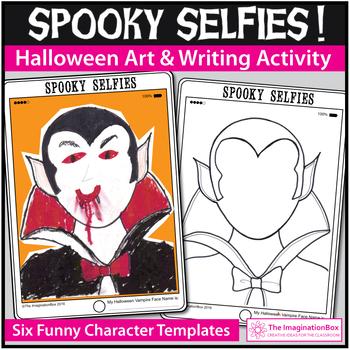 Create Halloween Tablet Style 'Spooky Selfies' art activity pack