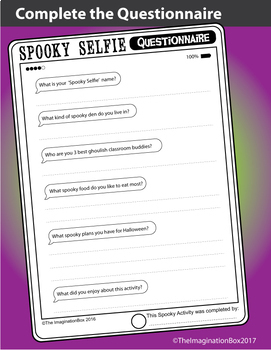 'Spooky Selfies' Fun Halloween Art Project, with Tablet template