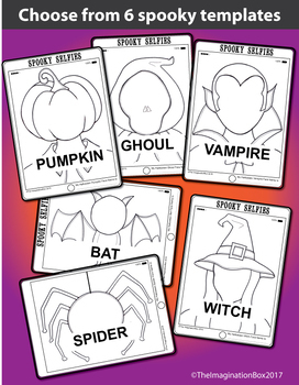 Halloween Coloring Pages - Spooky Selfies Art and Writing
