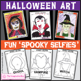 Halloween Coloring Pages | Spooky Selfies Art and Writing