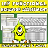 Create IEP Behavior Plans: Editable FBAs, BIPs, Surveys, & Sample Goals