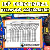 Create IEP Behavior Plans: Editable Functional Behavior As