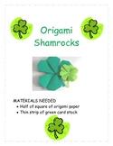 Create Oragami Shamrocks