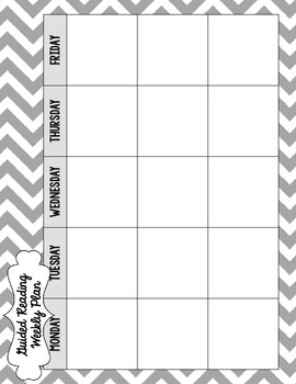 {Create  Planner} Guided Reading Record