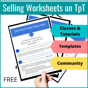 Create Printables: Fast Track to Selling on TpT