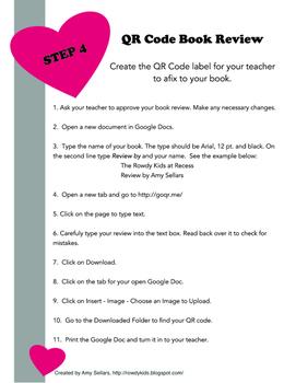 Create QR Code Book Reviews