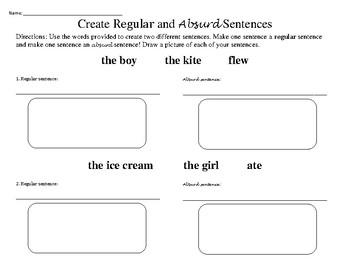 Create Regular and Absurd Sentences