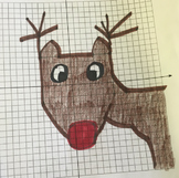 Create Rudolph Coordinate Plane Holiday Math Graphing Activity Project