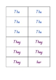 Create Sentences with Small Word Cards - Color Coded