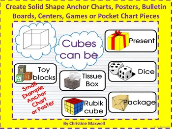 Create Solid 3D Shape Anchor Charts, Posters, BB, Centers, Games, Pocket Charts