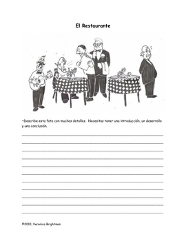 Create Stories Using Food/Restaurant Vocabulary