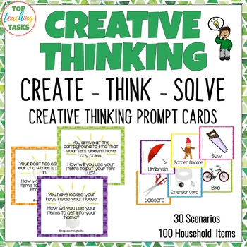 Create - Think - Solve Creative Thinking Prompt Cards (US