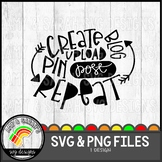 Create Upload Blog Post Pin Repeat SVG Design