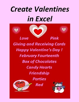 Create Valentines in Microsoft Excel