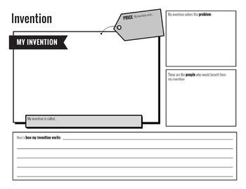 create your own invention activity by creative access tpt