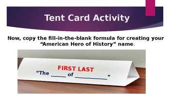 "Create Your ""American Hero of History"" Name"