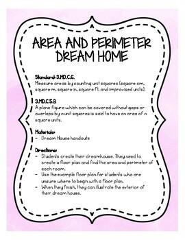 Create Your Dream Home: Area and Perimeter