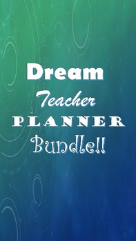 Create Your Dream Teacher Planner Bundle