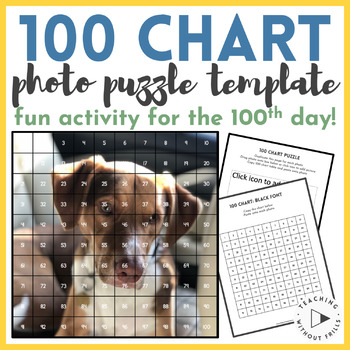 Create Your Own 100 Chart Photo Puzzles for the 100th Day of School!
