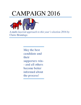 Create Your Own 2016 Campaign/Election!