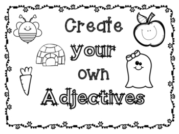 Create Your Own Adjectives