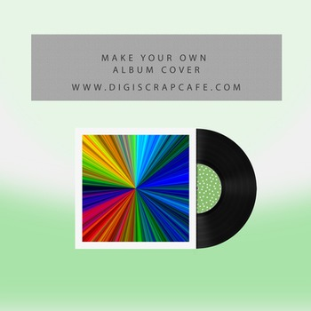 Create Your Own Album Cover Template with PNG Transparent Images Included