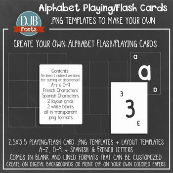 Create Your Own: Alphabet Playing Cards / Flash Cards